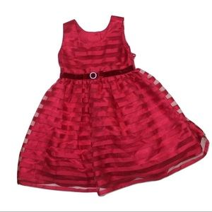 Girls Red Party Dress, Size 4